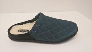 Sorel Nakiska Scuff Slippers, Dark Seas, Women's 10 M