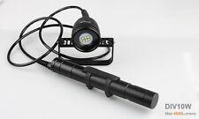Brinyte DIV10W XM-L2 6 * LED 4500lm Diving Flashlight Canister Scuba Video Photo