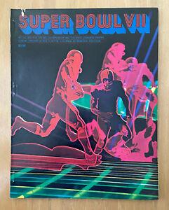 VINTAGE 1972-73 NFL SUPER BOWL VII PROGRAM - WASHINGTON REDSKINS  MIAMI DOLPHINS