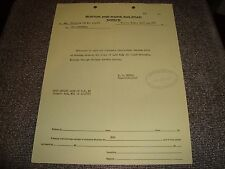 Boston and Maine Railroad Notice with Official Stamp April 25 1963 Excellent