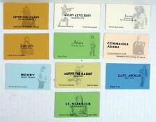 Battlestar Galactica Vintage Business Card Set of 10- Unused