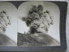 c1900s VOLCANIC ERUPTION IN JAVA D.E.I. STEREOVIEW