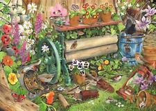 La House of Puzzles-Puzzle 1000 PEZZI-Robin 's Nest Birds & Fauna Selvatica