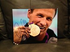 RYAN LOCHTE SIGNED AUTO 8x10 PHOTO SWIMMING OLYMPICS USA U.S.A. PROOF* **WOW** 3