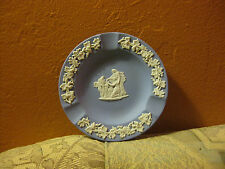 Wedgwood Ashtray Jasper Blue Beautiful! With Original Box! Winged Seraphim!