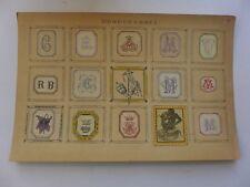 Ex-Libris  Monogrammes Armoiries collés sur carton