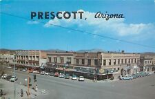 Vintage Postcard Prescott AZ Corner of Gurley & Cortez Streets Yavapai County