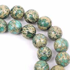 6mm AQUA TERRA JASPER Round Gemstone Beads, natural, mint green, tan, gja0061