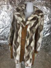 Women's Vintage 1970's Brown & Beige Faux Fur Penny Lane Coat, Size M, Pre-Owned
