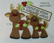 ReInDeEr ChRiStMaS AnImALS PreMade Paper Piecing Die Cut Scrapbook danderson651