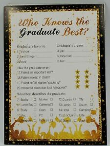 30Ct Who Knows Graduate Best Graduation Game Cards