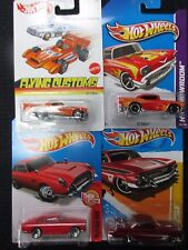 Hot Wheels 4 New in Sealed Packages 1:64-'57 CHEVY, T-BIRD, ASTON MARTIN, & IMPA