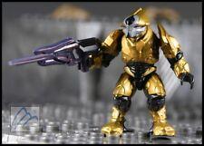 HALO MEGA BLOKS COVENANT GOLD ELITE ULTRA W/ STORM RIFLE MINI FIGURE #97015