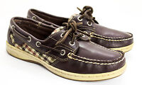 Sperry Top Sider Brown Leather Slip On Boat Shoes 9791104 Women's Size 6.5 M