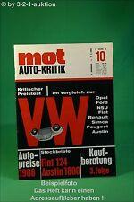 MOT 10/66 Austin 1800 Fiat 124 Transistorzündung Radios