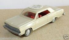 rare WIKING HO 1/87 CHEVROLET MALIBU 1965 beige avec crochet attelage +étiquette