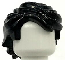 LEGO NEW BLACK MINIFIGURE HAIR SWEPT BACK BOY WIG PIECE