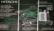 BRAND NEW In Box Hitachi KC 18DG4L 4-Piece 18Volt Cordless Combo Set KC18DG4L