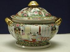 Excellent Antique Chinese Export Rose Medallion Tureen