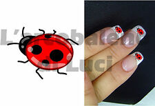 20 AUTOCOLLANTS POUR ONGLES COCCINELLLE LADYBIRD NAILS ART STICKERS MANUCURE