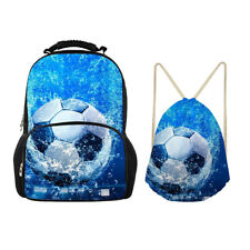 Soccer Blue Backpack Large Laptop Drawstring Bags Boys Mens Womens School Sports