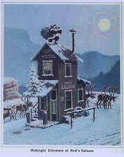 "LLoyd Mitchell ""Midnight Dilemma at Red'd Saloon""  vintage art"