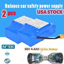 2PCS 36V 4.4Ah 10S2P Li-Ion Battery For Balance Scooter Board USA Seller.