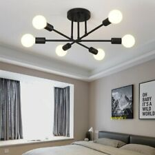 Modern Sputnik Chandelier Semi Flush Mount Ceiling 6 Light Living Room Fixture