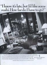 """Four Seasons Hotels """"sushi"""" 1995 Magazine Advert #4118"""