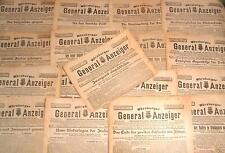 1.WK Tages Zeitung Würzburg er Generalanzeiger 1915 DATUM IHRE WAHL 100 Jahre