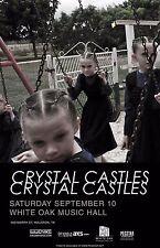 CRYSTAL CASTLES 2016 HOUSTON CONCERT TOUR POSTER - Electropunk, Synthpop Music