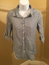 Faded glory Girls' Chambray shirt light wash Xl 14/16 adjustable sleeve