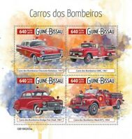Guinea-Bissau - 2019 Fire Engine - 4 Stamp Sheet - GB190203a