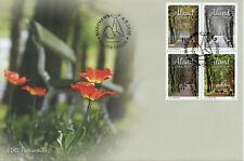 More details for aland trees stamps 2020 fdc four seasons nature landscapes 4v block