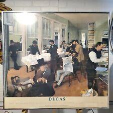 DEGAS, EDGAR ART EXHIBIT POSTER (LITHOGRAPH) THE METROPOLITAN MUSEUM 1988 FRAMED