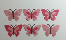 12 PINK BUTTERFLY DIE CUTS  ~ EMBELLISHMENT SCRAPBOOKING ~BUTTERFLIES INSECTS