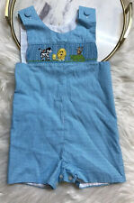 Amanda Remembered Handmade Clothing Boys Size 24 M Shorts Jumper Embroidered