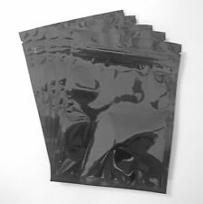 100 Black 4.5x6 Aluminum/Foil Pouches, Mylar Ziplock Bags, Smell Proof Packaging