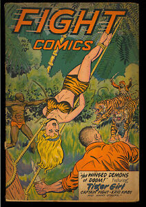 Fight Comics #52 Unrestored Golden Age Fiction House Jungle 1947 GD+
