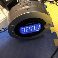Sony Dream Machine Auto Time Set Dual alarm clock CD IPod iPhone Radio ICFCD3iP