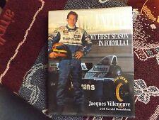 JACQUES VILLENEUVE - MY FIRST SEASON IN FORMULA 1 - 1996 HB DJ BOOK