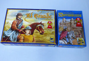 El Grande + Carcassonne 2 Spiele Paket von Hans im Glück Spiel des Jahres