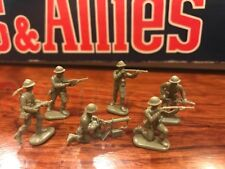 Infantry plastic soldiers Machine Gun 6 Poses