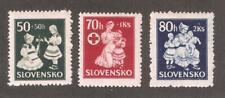 Slovakia 1943, Red Cross Issue ,Scott # B11-B13,VF MNH** (A-D-St)