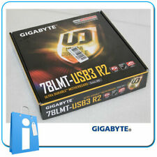 Placa base mATX AMD 760G GIGABYTE GA-78LMT-USB3 R2 Socket AM3 con Accesorios