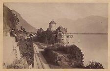 Château de Chillon Lac Léman Suisse Vintage albumine