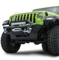 "Front Bumper+21"" LED Mount+Fog Light Hole+Dual Plate for 18-19 Jeep Wrangler JL"