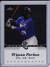 Ti'Quan Forbes 2013 Leaf Perfect Game Rangers Prospect Rookie Card 2014 Draft