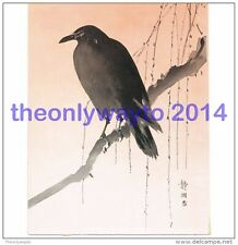 CROW ON A WILLOW, BY SEIKO, JAPANESE PRINT FROM A BOOK OF WILD THINGS, c1910