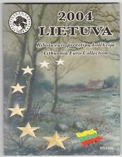 More details for 2004 lithuania trial eight coin euro set in a card pack in near mint condition.